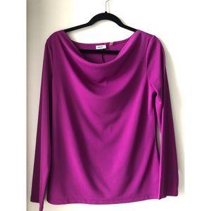 DKNYC Purple Scoop Neck Blouse